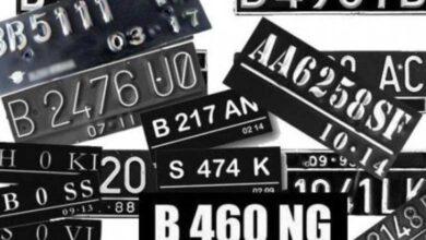 Photo of Daftar Kode Pelat Tanda Nomor Kendaraan di Indonesia